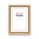 Wooden Rectangle Frame Maple Royalty Free Stock Photo