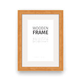 Wooden Rectangle Frame Natural Royalty Free Stock Image