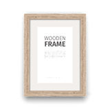 Wooden Rectangle Frame Stock Images