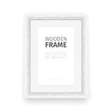 Wooden Rectangle Frame White Stock Image