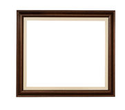 Wooden rectangle picture frame Royalty Free Stock Photography