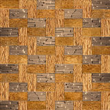 Wooden rectangular parquet, seamless background Royalty Free Stock Images