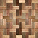 Wooden rectangular parquet stacked for seamless background. Royalty Free Stock Photography