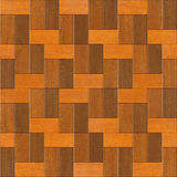 Wooden rectangular parquet stacked for seamless background. Royalty Free Stock Image
