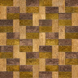 Wooden rectangular parquet stacked for seamless background. Royalty Free Stock Images