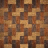 Wooden rectangular parquet stacked for seamless background Stock Image
