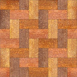 Wooden rectangular parquet stacked for seamless background Royalty Free Stock Image