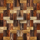 Wooden rectangular parquet stacked for seamless background. Stock Photo
