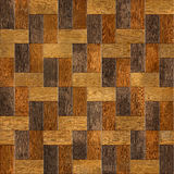 Wooden rectangular parquet stacked for seamless background. Stock Image
