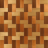 Wooden rectangular parquet stacked for seamless background Stock Photo