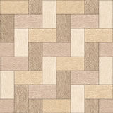 Wooden rectangular parquet stacked for seamless background Stock Images