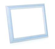 Wooden rectangular photo frame Stock Photography