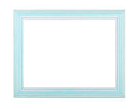 Wooden rectangular photo frame Stock Photo