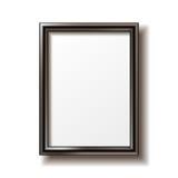 Wooden rectangular photo frame Royalty Free Stock Image