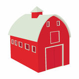Wooden red barn icon in cartoon style Stock Image