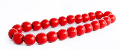 Wooden red beads  Stock Photography