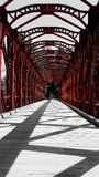 Wooden red bridge Royalty Free Stock Photo
