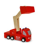 Wooden red fire truck Royalty Free Stock Image