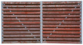 Wooden red gate Stock Photography