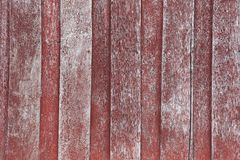 Wooden red old wall Stock Photography
