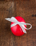 Red painted egg Stock Images