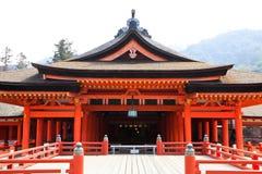 Wooden red shrine Stock Image