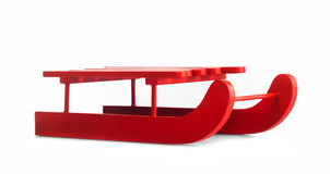 Wooden red sled Royalty Free Stock Images