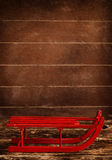 Wooden red sled Royalty Free Stock Photos