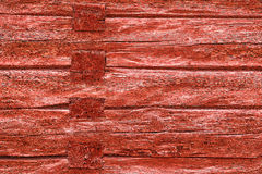 Wooden red timber wall weathered Royalty Free Stock Photos