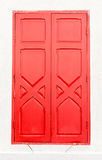 Wooden red window of Thai temple Royalty Free Stock Photos