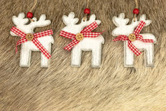 Wooden reindeer for Christmas Stock Photo