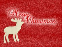 Wooden Reindeer Merry Christmas Stock Image