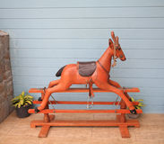 Wooden reindeer toy for riding Royalty Free Stock Image