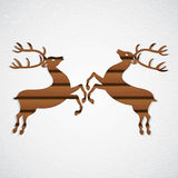 Wooden reindeer Royalty Free Stock Images