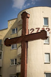 Wooden religious cross Stock Photography