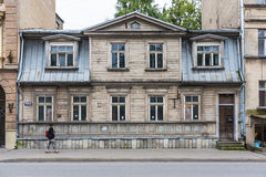 Wooden residential building Riga Stock Images