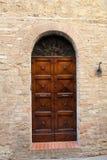 Wooden residential doorway Stock Photos