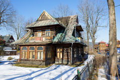 Wooden Residential House built about 1905 in Zakopane Stock Photos