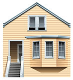A wooden residential house Stock Photo