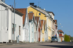 Wooden residential houses Nykoping Royalty Free Stock Photography