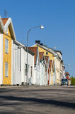 Wooden residential houses Nykoping Royalty Free Stock Photos