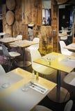 Wooden restaurant Stock Photography