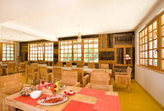 Wooden restaurant Royalty Free Stock Images