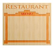 Wooden Restaurant menu. Royalty Free Stock Image