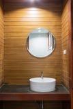 Wooden restroom Stock Images