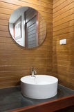 Wooden restroom Royalty Free Stock Image