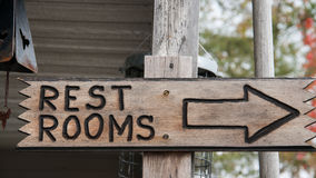 Wooden Restroom Sign Royalty Free Stock Image