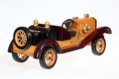 Wooden retro car Stock Image