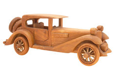 Wooden retro car Royalty Free Stock Photos