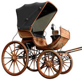 Wooden retro carriage Stock Images